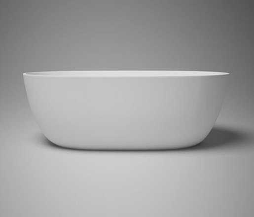 Halo Petite Blu Stone Freestanding Oval Bathtub White