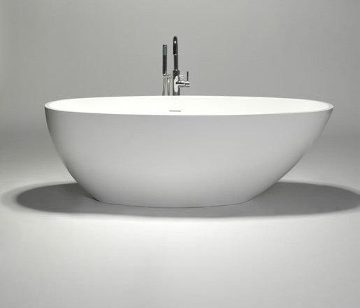 halo   blu•stone™ freestanding oval bathtub by Blu Bathworks   Bathtubs