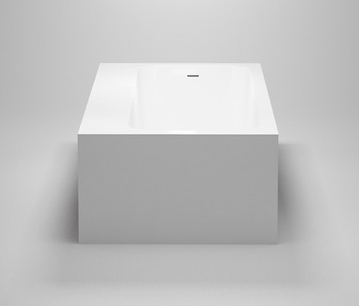amanpuri•1 | blu•stone™ bathtub with recessed shelving by Blu Bathworks | Bathtubs
