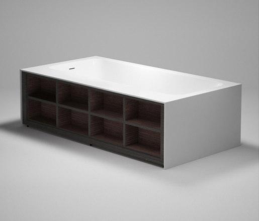 amanpuri•1 | blu•stone™ bathtub with recessed shelving by Blu Bathworks | Bathtubs