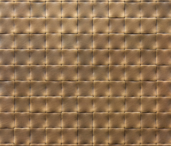 Square 30 délabré brass by De Castelli | Metal mosaics