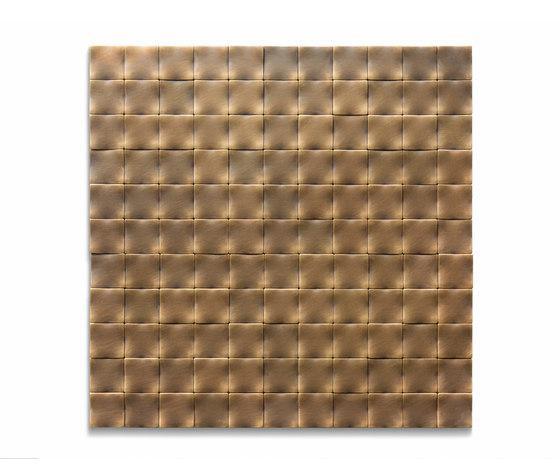 Square 30 délabré brass de De Castelli | Mosaïques métal