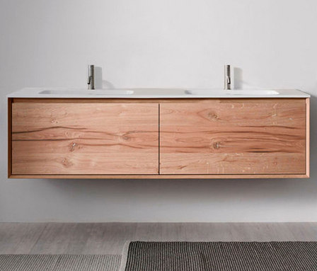 45º furniture | FULL • series 1800 wall-mount vanity by Blu Bathworks | Vanity units
