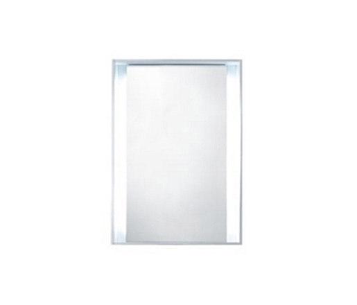 51 furniture | M1 series 600 box frame mirror with LED lighting by Blu Bathworks | Bath mirrors