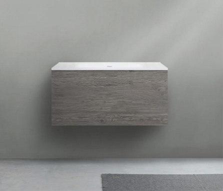 51 furniture | series 900 wall-mount vanity by Blu Bathworks | Vanity units