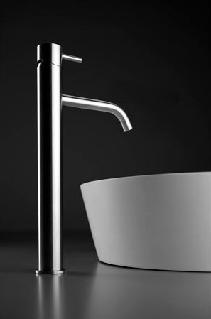 inox | stainless steel single-hole, deck-mount basin mixer by Blu Bathworks | Wash basin taps
