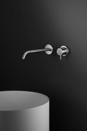 "inox | stainless steel 10"" wall-mount basin spout by Blu Bathworks 