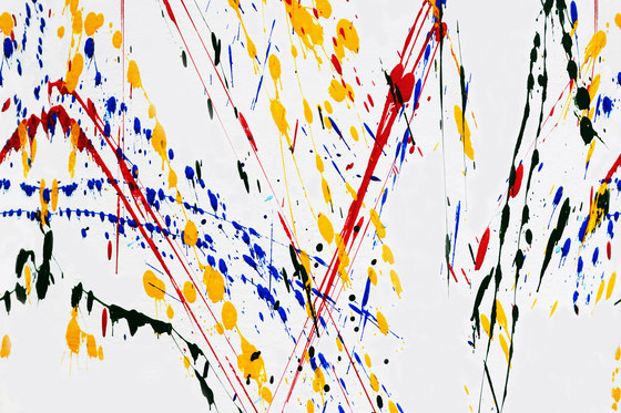 Action Painting Drip di GLAMORA | Rivestimenti su misura