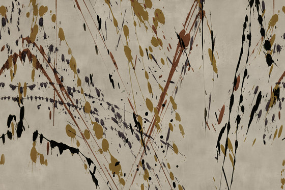 Action Painting Drip by GLAMORA | Bespoke wall coverings
