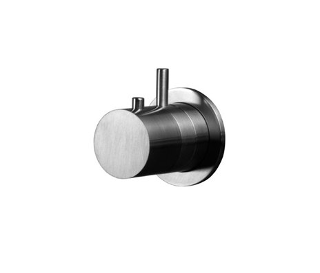 inox | stainless steel thermostatic tub/shower trim set with volume control by Blu Bathworks | Shower controls