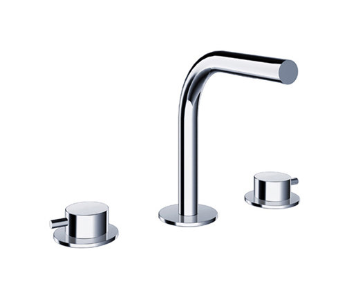 pure∙2   three-hole deck-mounted basin mixer by Blu Bathworks   Wash basin taps