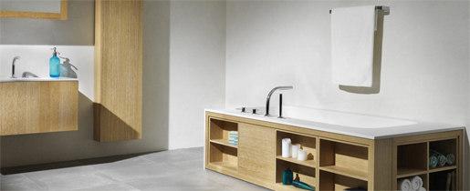 pure∙2   four-hole deck mounted bath mixer by Blu Bathworks   Bath taps