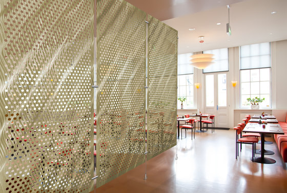 Metal Room Divider in Classic Collection on  Perforated Aluminum by Moz Designs   Privacy screen