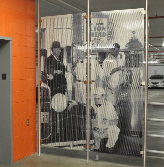 Metal Room Divider in Classic Collection on  Perforated Aluminum by Moz Designs | Privacy screen