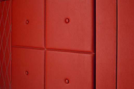Custom Wall Panel by Spinneybeck | Leather tiles