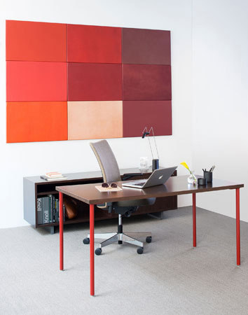 Flat Wrap Wall Panel by Spinneybeck | Leather tiles