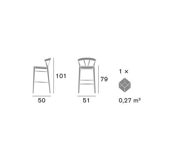 Ginger 2127 SG by Cizeta | Bar stools