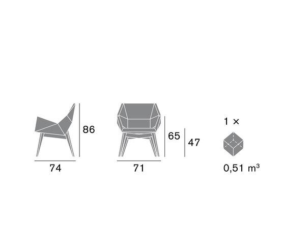 Prisma 1670 PO b98f de Cizeta | L'Abbate | Sillas