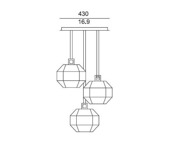 TREASURE CLUSTER OF 3 de Contardi Lighting | Suspensions