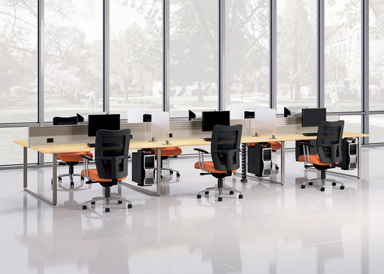 Epicenter Partitions and Desk Systems de National Office Furniture | Power / connectivity modules
