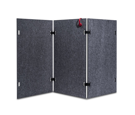 Acoustic shield wall by Westermann | Screens