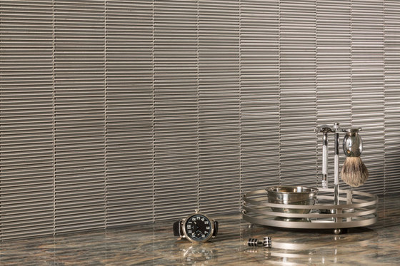 Loom Silver Silk Clear Amp Frosted Glass Mosaics From