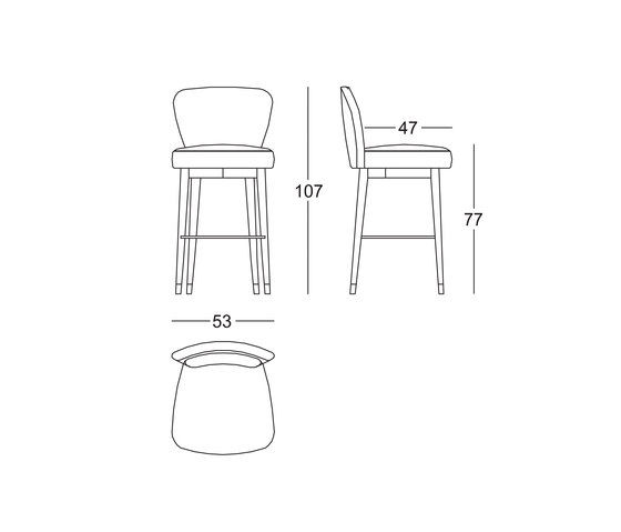 Olivia Stool by black tie | Bar stools