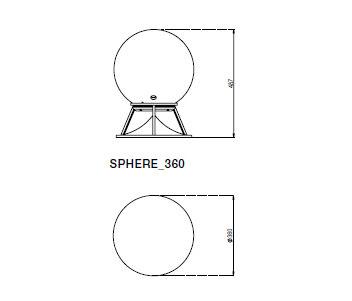 Sphere 360 concrete by Architettura Sonora | Speakers