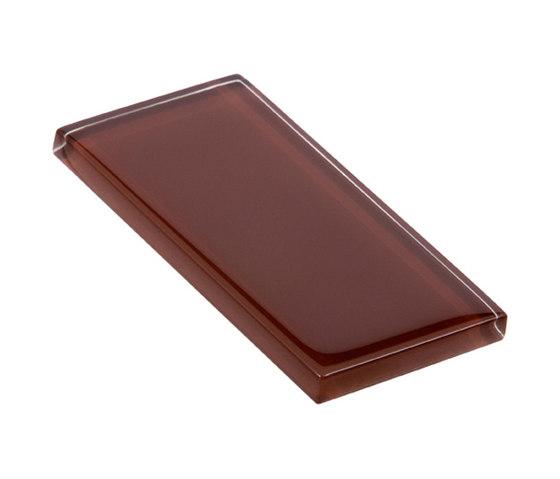 Glasstints | mahogany brown glossy de Interstyle Ceramic & Glass | Carrelage en verre