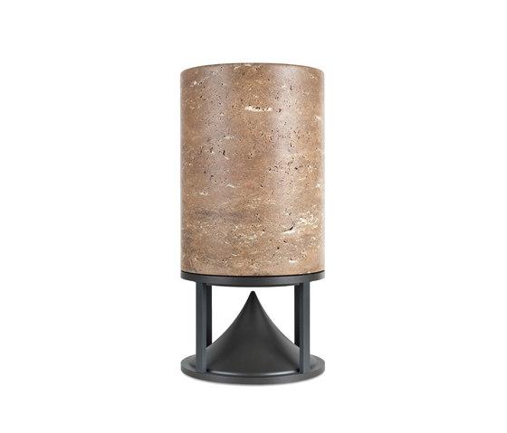 Cylinder Medium standard stones travertine by Architettura Sonora   Speakers