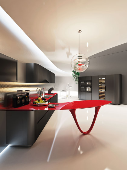 Ola 25 L.E. | black rosso by Snaidero USA | Fitted kitchens