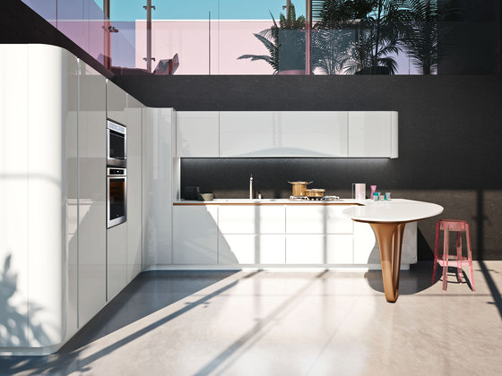 Ola 25 L.E. | white by Snaidero USA | Fitted kitchens