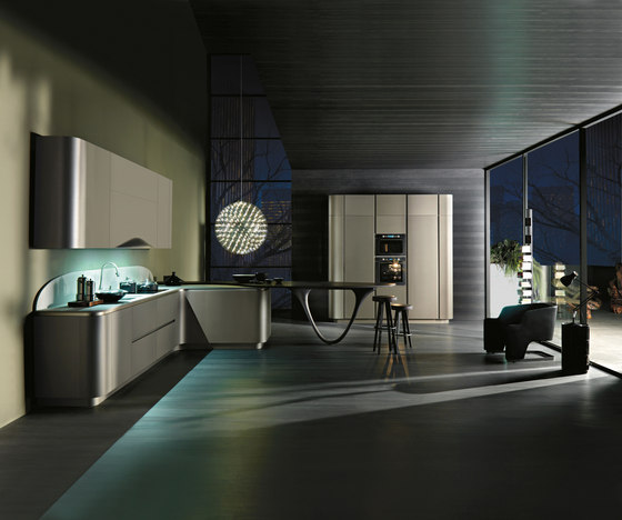 Ola 20 | grigio cemento by Snaidero USA | Fitted kitchens