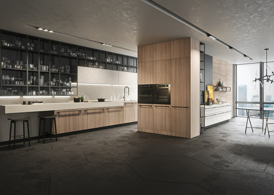 Opera | olmo natural by Snaidero USA | Kitchen cabinets