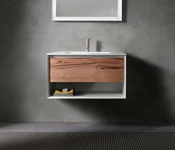 45º furniture | UP • series 700 wall-mount vanity by Blu Bathworks | Vanity units