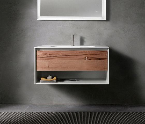 45º furniture | UP • series 900 wall-mount vanity by Blu Bathworks | Vanity units