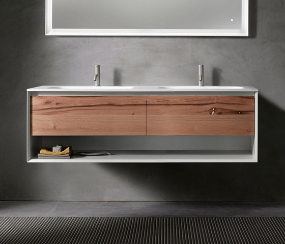 45º furniture | UP • series 1400 wall-mount vanity by Blu Bathworks | Vanity units