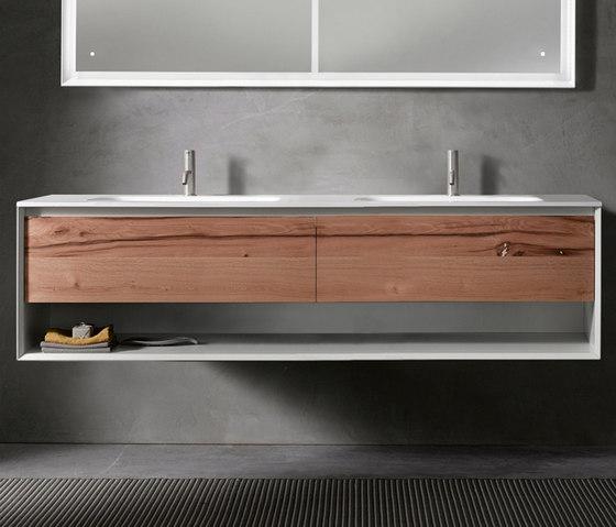 45º furniture | UP • series 1800 wall-mount vanity by Blu Bathworks | Vanity units