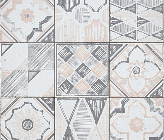 Betonstil MixDecò Rosy Blush satin by TERRATINTA GROUP | Ceramic tiles