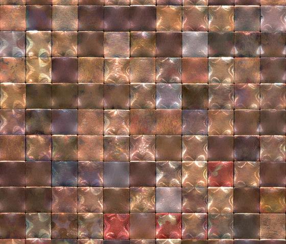 Square 30 rame iridescente di De Castelli | Mosaici metallo