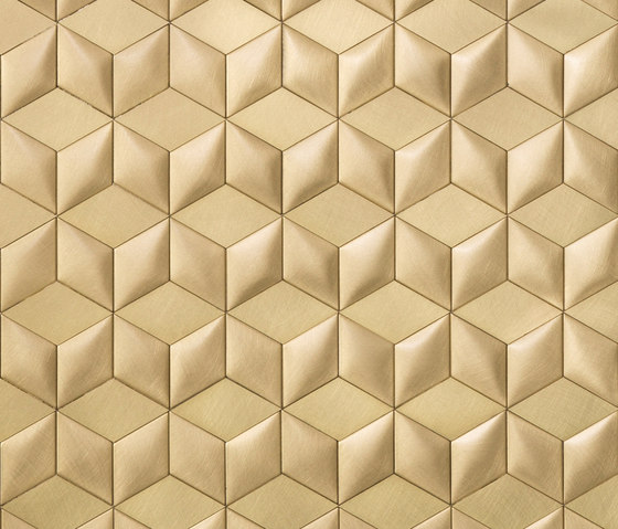 Mosaico brushed brass by De Castelli | Metal tiles