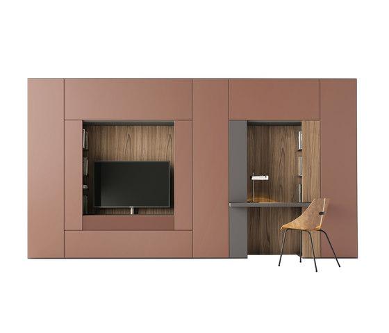 Roomy | modulo tv + scrittoio di CACCARO | Armadi