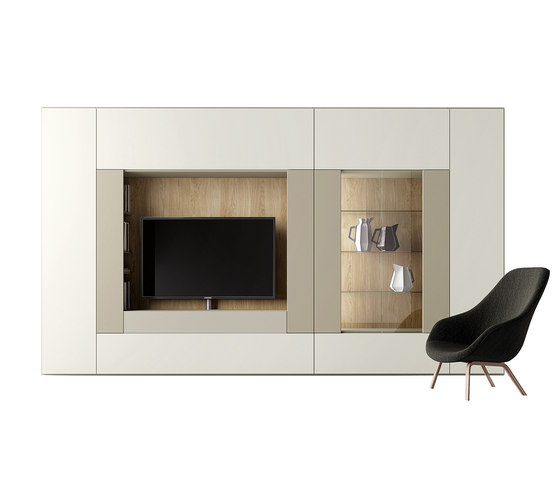 Roomy | tv + showcase module by CACCARO | Cabinets