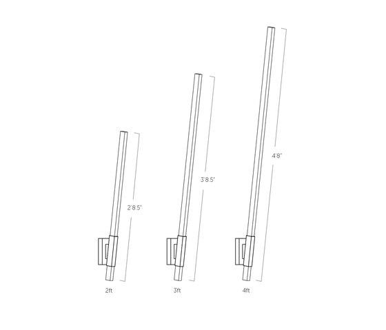 2 ft Vertical Sconce di STICKBULB | Lampade parete
