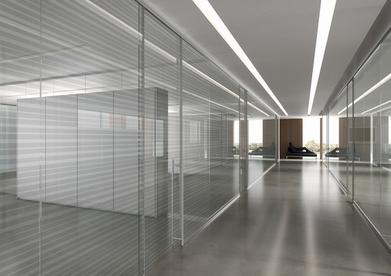 DV602-Single glass 03 by DVO   Wall partition systems