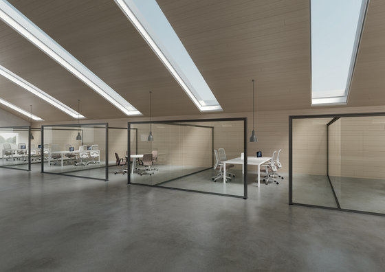 DV602-Single glass 08 by DVO | Wall partition systems