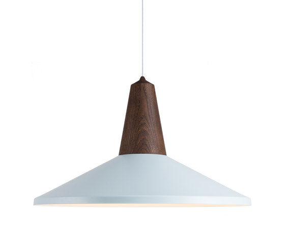 Eikon Shell Smoked Oak Ice Blue by SCHNEID | Suspended lights