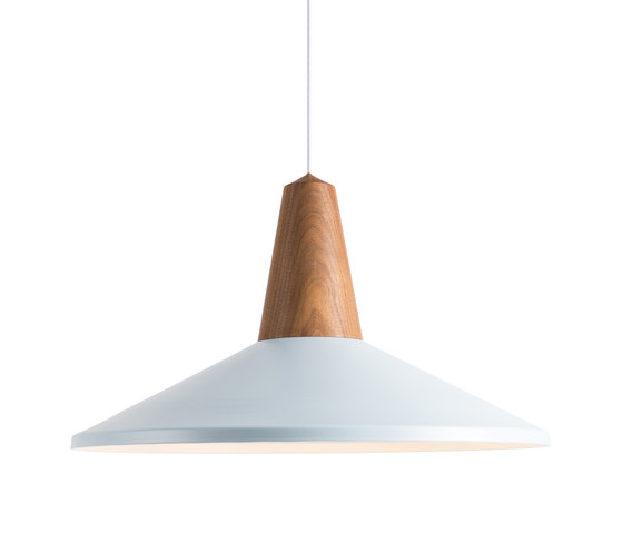 Eikon Shell Walnut Ice Blue by SCHNEID | Suspended lights