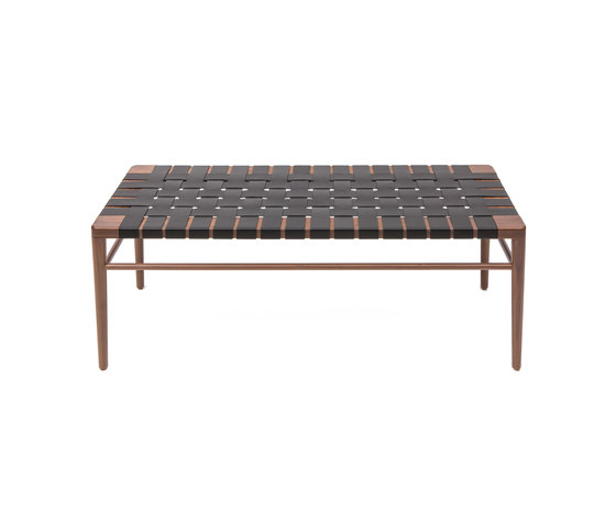Woven Leather Bench by Smilow Design | Benches