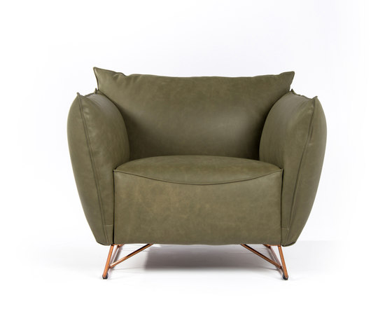 My Home XL copper with arms by Jess | Armchairs